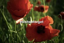 #lestweforget / Honouring our military for their service, valour, and bravery.