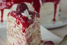 Kuchen / Crepe Himbeer Torte
