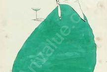 Harry Clarke.  1890 - 1931 / Similar to Beardsley... Clarke designed many illustrations for books, magazines and art.