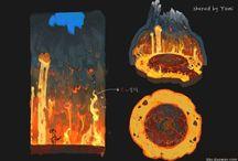fire lava environment