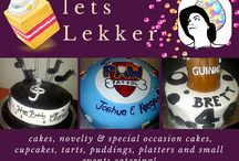 lets Lekker / cakes, novelty & special occasion cakes, cupcakes, tarts, puddings, platters and small events catering!