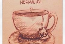 It´s Teatime / Tea, scones, afternoon tea, milk, sugar, napkins, lemon curd ETC..!