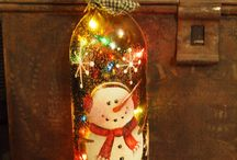 wine bottles decor / by Karen Herndon