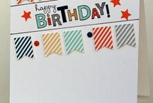 Carte anniversaire / Scrap
