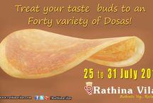 Dosa fest 2016 / 40 varieties of dosas -7 days (July 25-31)