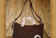 brown / zipper brown bag