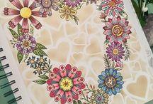 Loris Art Garden Coloring Book / Meus coloridos do livro Loris Art Garden.