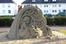 Sand sculptures / Pictures of sand sculptures I made throughout the years as a sand sculptor.