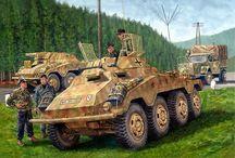 WW2 - SDKFZ 234/1 / Sd.Kfz.234 (Sonder Kraftfahrzeug lub Puma) – seria niemieckich 8-kołowych, ciężkich samochodów pancernych uzbrojonych w działko kal. 20 mm i km MG-42.