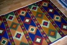 alfombras hechas con punto cruz