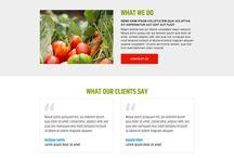 agriculture landing page design