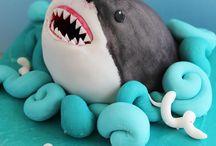 aniversário de tubarão.