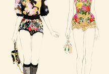 fashion illustration and pattern