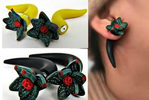 Fake ear plugs handmade / Follow and collab with only fake handmade earring plugs or ear gauges.succulent ear plugs. https://www.etsy.com/listing/172182294/succulent-fake-ear-plugs-fakers-sterling?ref=hp_rf