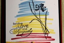 Love and Sympathy / Cards made using Stampin' Up! Love and Sympathy stamp set!