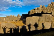"""Sacsayhuaman / A few minutes from the city of #Cusco we find the great Inca construction """"Sacsayhuaman"""". In its walls made of big blocks of stones, some figures can be identified.  Can you see something in the picture? #ikexperiences #Sacsayhuaman Tours in Cusco -- > http://bit.ly/1rcIIMj (Photo by Flickr Zug55)"""