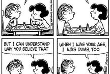 Peanuts Funny Strips / I'm one of the few who has never quite been impressed by Snoopy no matter how much folks love the dog and Woodstock. They're cool, but I'm way more into the Peanuts people. Check out some of the most amusing, funny comic strips I've seen on the web.