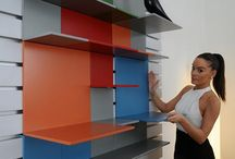 PIXEL / A wall unit named 'PIXEL' designed by Master of Furniture student Annaisa Petri in collaboration with Prof Lapo Binazzi. The unit gives the freedom of creativity; with a variety of colours the modular design provides an expression of emotions and endless combination of parts. The simple minimal design with aluminum tracks and wooden shelves has been executed with precision, combining design styles to create a unique shelving system, easily changeable to suit various needs and tastes.