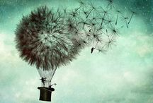 magic dandelions / make a wish / by jo whimsy