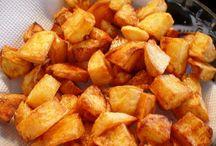 batatas fritas na panela de pressão