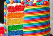 Rainbow Birthday cakes for Liam