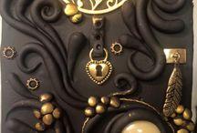 Aptos Clay Creations / Polymer clay tiles, ornaments, fairy doors.