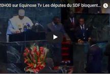 LES DEPUTES DU SDF BLOQUENT LES TRAVAUX DE L'HEMICYCLE CE MERCREDI 29 NOVEMBRE. EQUINOXE TV
