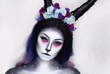 deer makeup dark