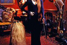 Morticia and Addams family.