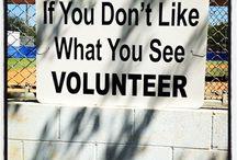 Funny volunteer