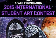 "2015 International Student Art Contest / Each year, the Space Foundation invites students to enter our International Student Art Contest. The 2015 contest theme, ""The View From My Spaceship...,"" challenges students to design their own concept of a view looking into space from a spaceship – and then interpret that idea into an original work of visual art."