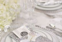 Silver beaded charger plates