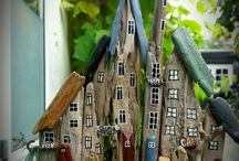 mini wood houses