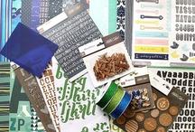 Something Blue Kit Inspiration / June 2013 kit for Scrap Stash Kit Club  / by Scrappypedia