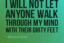The Love Quotes Celebrity Quotes : I will not let anyone walk through my mind…