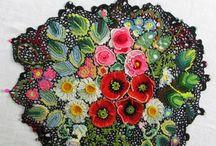 вязание мотив цветы