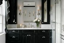 Black and White Home Decor  / http://pinterest.com/designitourself/black-and-white-interior-design/