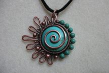 JEWELRY/PENDANTS/WIRE / INSPIRATION FOR JEWELRY I WANT TO MAKE / by Julie Ford Dixon