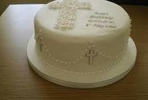 tortas souvenir y centro d mesa d comunión para ludmi