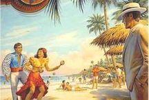Vintage ταξιδιωτικές αφίσες-VARADERO CUBA