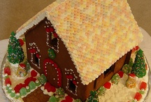 gingerbread houses. / by Taya Walk