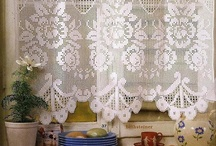Crocheted curtains