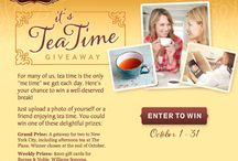 """It's Tea Time Giveaway / For many of us, tea time is the only """"me time"""" we get each day. Check out our Facebook page and enter for a chance to win these incredible prizes:  Grand Prize: A getaway for two to New York City, including afternoon tea at The Plaza. Winner chosen at the end of October. Weekly Prizes: $200 gift cards for Barnes & Noble, Williams Sonoma, Gaiam and Crate & Barrel, plus a case of Celestial Seasonings tea. Winners chosen each Tuesday in October."""
