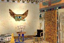 Египетский стиль / Египетский стиль в интерьере