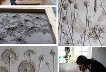 Clay .....covered flowers etc