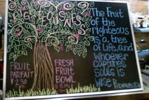 Chalk it up  / A collection of chalkboards I have drawn up for my work.....I have a good time doodling:) / by Sonya Tucker