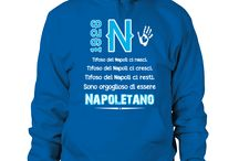 """"""" NAPOLETANO SI NASCE """" Blue Passion / T-Shirt Sweatshirt For the Fans of Napoli"""