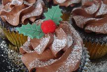 pasteles navideños de fondant