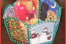 Jouluaskartelua ja koristeita / Joulukoristeita ja jouluaskartelua