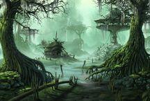 Fantasy Towns / Inspirational ideas.